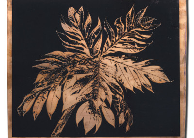 Palms-1-mixed-media-black-on-bronze
